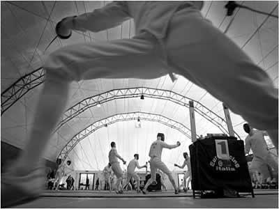 A esgrima é uma modalidade dos Jogos Mundiais Militares