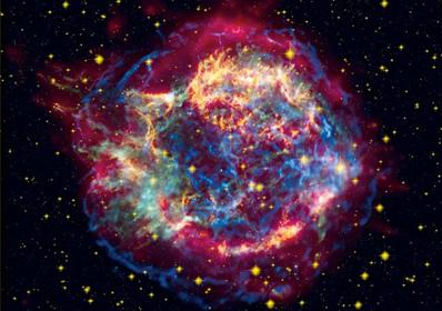 A explosão de uma estrela libera os elementos químicos formados nela por meio de fusão