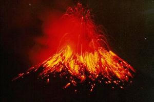 A fantástica visão de uma erupção vulcânica.