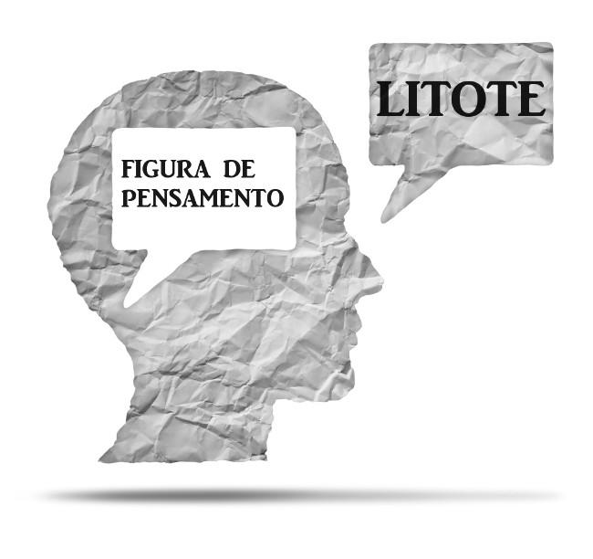 A figura de pensamento litote, assim como o eufemismo, trabalha com o abrandamento das ideias