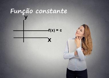 A função constante é representada por f(x) = c, e seu gráfico sempre será uma reta horizontal