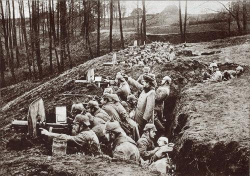 A Guerra de Trincheiras foi uma das fases da Primeira Guerra
