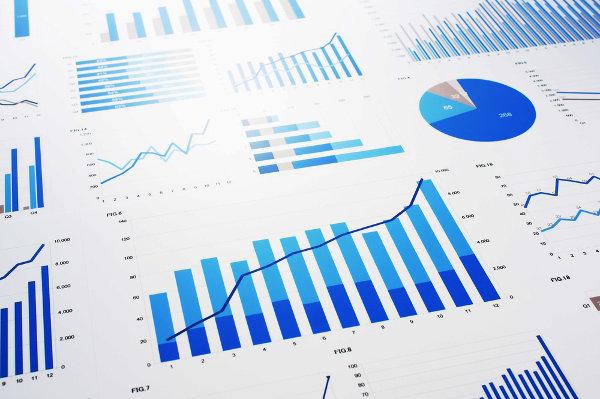 A imagem destaca gráfico de setores, gráfico de linhas e gráfico de barras