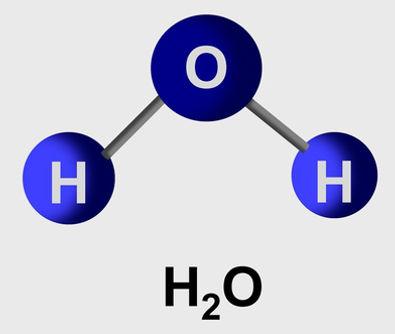 A molécula de água é polar por apresentar dois ligantes iguais e quatro nuvens