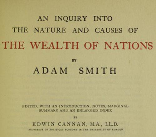 """A obra """"A Riqueza das Nações"""", de A. Smith, é um dos clássicos da Economia Política"""