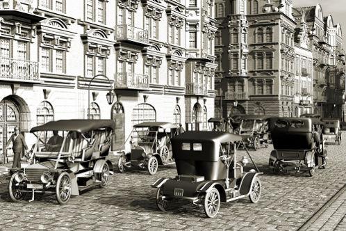 A popularização de invenções tecnológicas, como o automóvel, caracterizou a Belle Époque