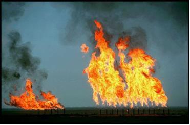 A queima de gases é um exemplo de reação exotérmica, reação em que a variação da entalpia é negativa