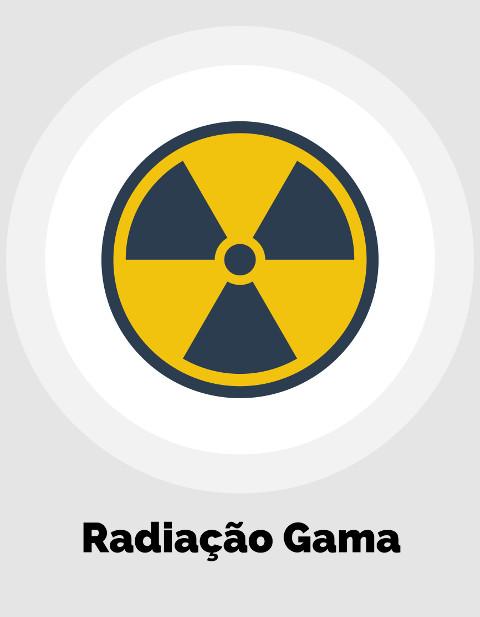 A radiação gama pode danificar células e atravessar chapas de alumínio com facilidade
