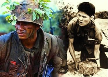 Os vietcongues utilizaram de ataques surpresa para bater os soldados norte-americanos.