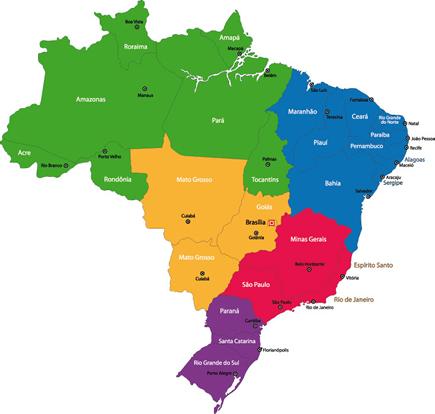 Divisão político-administrativa do território brasileiro