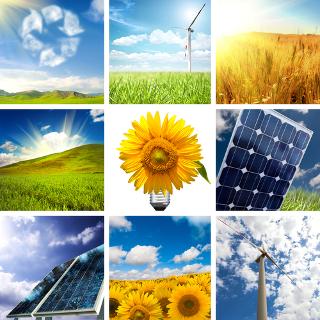 Entre as formas de energia limpa, temos a eólica, a solar e os biocombustíveis