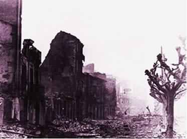 O ataque de Guernica foi mundialmente popularizado pela obra de Pablo Picasso.