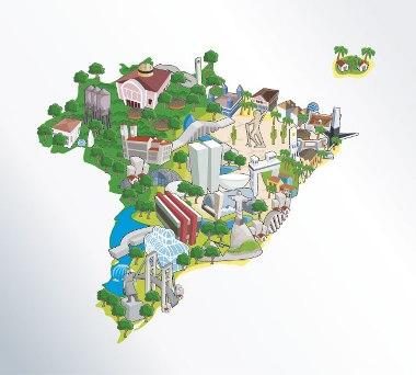 República Federativa do Brasil, um Estado administrado por um governo e que congrega várias nações