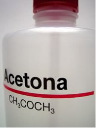 Fórmula molecular da acetona