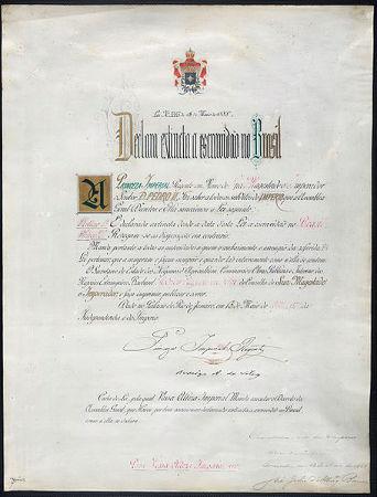 Acima, o documento original da Lei Áurea, ou Lei Imperial nº 3. 353