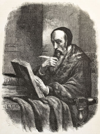 Acima, imagem de João Calvino, um dos principais líderes protestantes