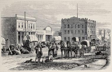 Acima, um típico cenário do Velho Oeste americano durante a segunda metade do século XIX