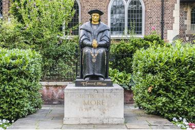 Thomas More, filósofo do século XVI que escreveu a obra Utopia, na qual descreve uma sociedade organizada de forma distinta da sociedade em que vivia