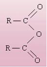 Grupo funcional dos anidridos.