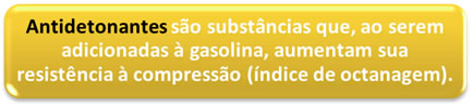 Definição de substâncias antidetonantes