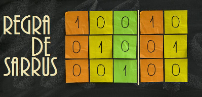 Aprenda a utilizar a Regra de Sarrus para calcular o determinante de uma matriz de ordem 3