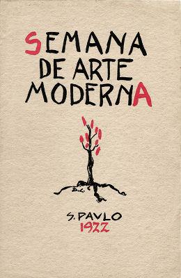 Arte de Di Cavalcanti na capa do programa da Semana de Arte Moderna de 1922