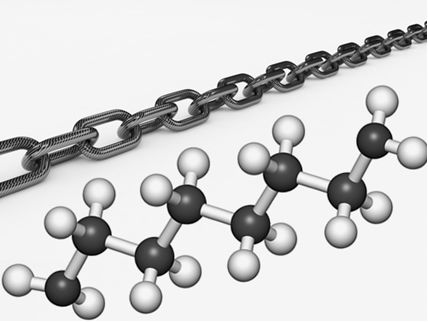 As cadeias carbônicas são átomos de carbono ligados uns aos outros e a outros elementos químicos