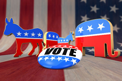 As eleições presidenciais nos EUA são feitas por meio do voto facultativo e distrital