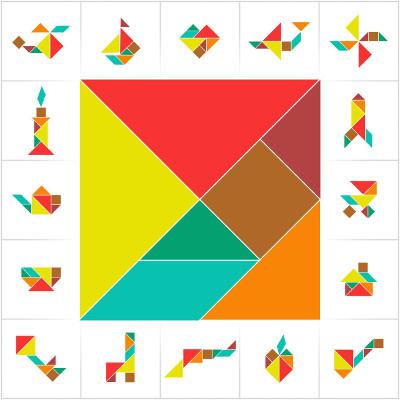 O Tangram serve de auxílio para as disciplinas de Matemática e Educação Artística