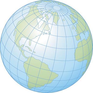 As latitudes e longitudes permitem a localização de qualquer ponto da superfície terrestre