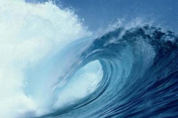 As ondas são características das águas marinhas