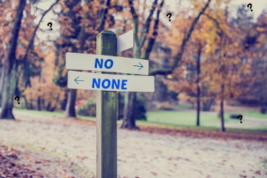"""As palavras """"No"""" e """"None"""" possuem diferenças em relação ao seu uso."""