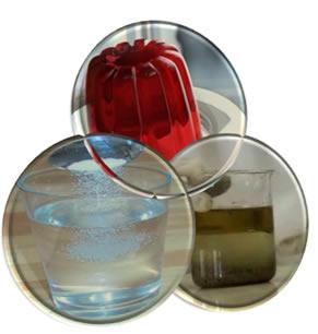 As várias misturas constituem três tipos de dispersões, que são: soluções, dispersões coloidais e suspensões