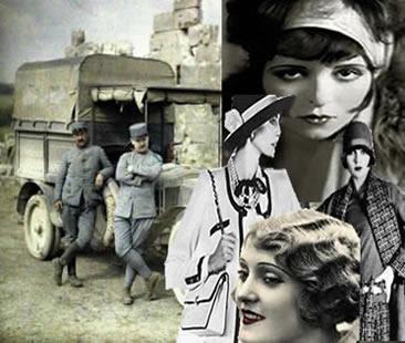 As vestimentas femininas com o advento da Primeira Guerra Mundial