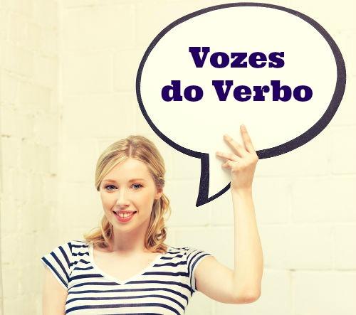 As vozes verbais podem ser: ativa, passiva e reflexiva.