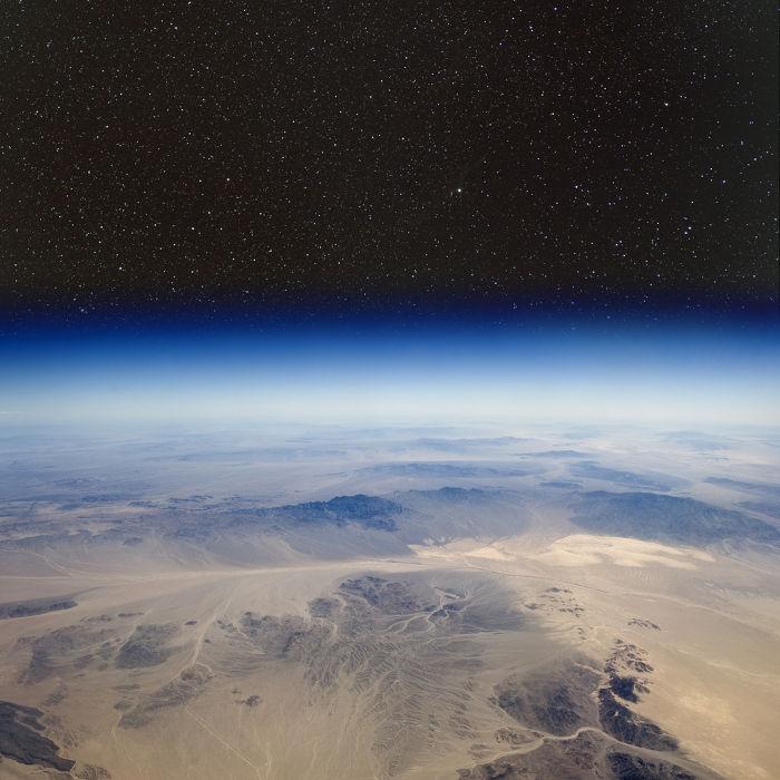 Atmosfera terrestre vista do espaço
