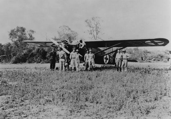 Avião usado pelos paraguaios para evacuar soldados com ferimentos graves durante a Guerra do Chaco (1932-1935)