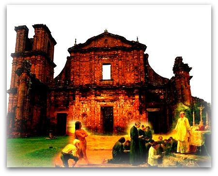 Ruína de Igreja na região de Sete Povos das Missões (atual Rio Grande do Sul)