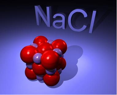 O cloreto de sódio, principal constituinte do sal de cozinha, é uma substância composta