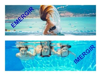 Emergir ou imergir? Na foto podemos ver a diferença desses dois verbos