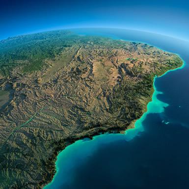 O território brasileiro apresenta dimensões de um continente.