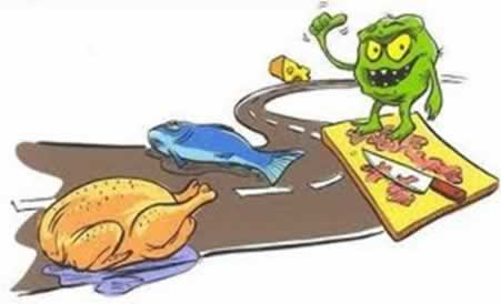 Os alimentos podem ser contaminados na sua manipulação ou no próprio ambiente em que foram produzidos