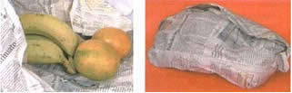 Para acelerar o processo de amadurecimento de uma fruta é possível embrulhá-la em jornal