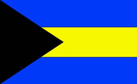 Bandeira da Bahamas.