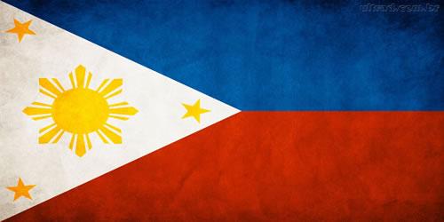 Bandeira da Filipinas.