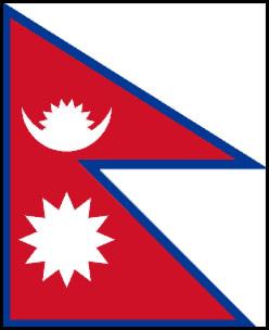 Bandeira do Nepal.