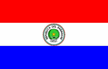 Bandeira do Paraguai.