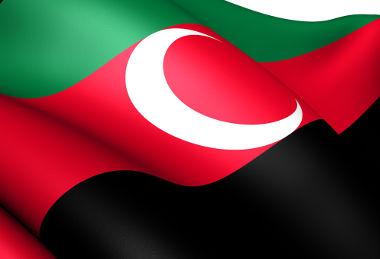 Bandeira da região de Darfur, que reivindica independência ao Sudão
