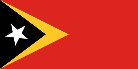 Bandeira do Timor Leste.