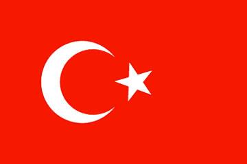 Bandeira da Turquia.